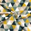 bavlna rezna trojuhelniky na zlutozelene 2