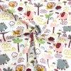 Bavlněné plátno barevní sloni