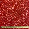 bavlnene platno bile folklorni kvety na cervene metr