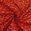 bavlnene platno bile folklorni kvety na cervene