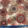 bavlnene platno cerveno sedo hnede mandaly metr