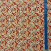 bavlnene platno barevne kvety na smetanove metr