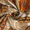 bavlnene platno oranzovo hnede mandaly uvod