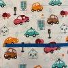 bavlnene platno barvene auta na bile metr