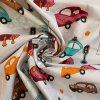 bavlnene platno barvene auta na bile uvod