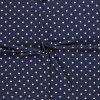 bavlneny uplet puntik bily na tmave modre