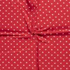 jednolici bavlneny uplet puntiky bile na cervene 1