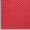 jednolici bavlneny uplet puntiky bile na cervene metr