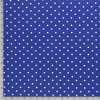 jednolici bavlneny uplet puntiky bile na kralovsky modre metr