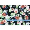 riflovina barevne kvety na cerne metr