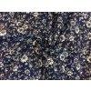 bavlnene platno plazive bile kvitky na modre tmave3