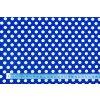bavlnene platno puntiky bile na modre 1 cm metr