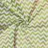 bavlna chevron jasne zeleny 1