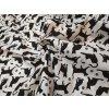 bavlnene platno cerne kocky na bile 31