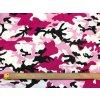Bambusový úplet maskáč růžovofialový