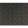 Bavlněné plátno bílé trojúhelníky na černé3