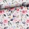 bavlnene platno rozkvetle ruze digi tisk