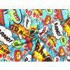 Bavlněné plátno barevný komiks