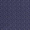 bavlnene platno lebky na modre drobny vzor