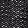 bavlnene platno lebky na cerne drobny vzor