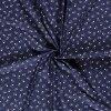 bavlnene platno bile lebky na modre tmave