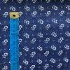 bavlnene platno kvetinky a tecky na modre 2