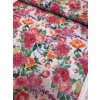 bavlna rezna velke ruzove kvety 12