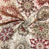 bavlna rezna kvetinove mandaly bordo 1