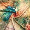 umele hedvabi silky modrozelenkavy mramor 3