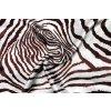 umele hedvabi silky hnedy zvireci vzor