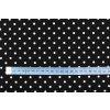Bavlněné plátno puntíky bílé 0,5 cm na černé
