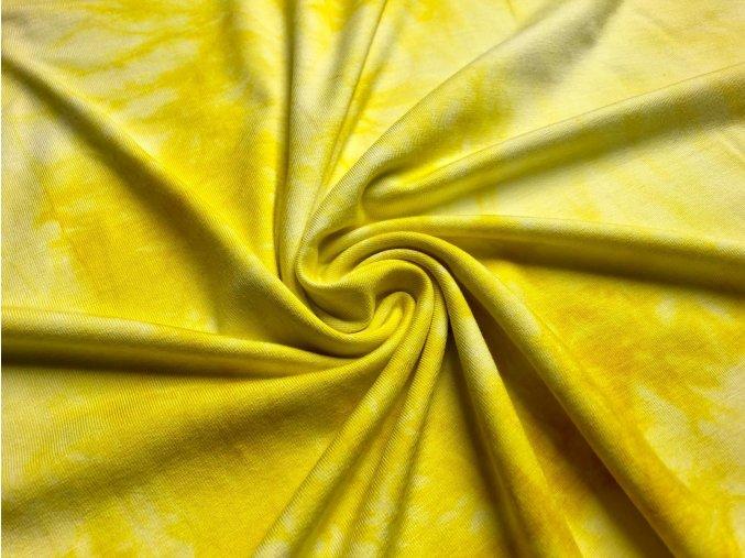 Bambusový úplet žltá batika