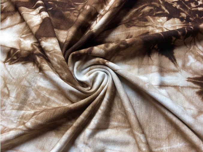 Bambusový úplet tmavohnedá batika