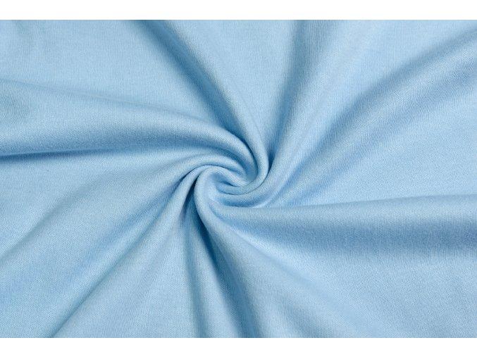 Obojstranný úplet ledove modrý