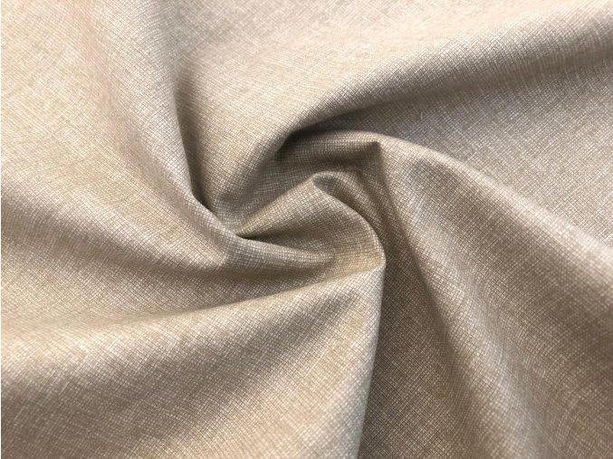 Bavlnené plátno pieskový melír
