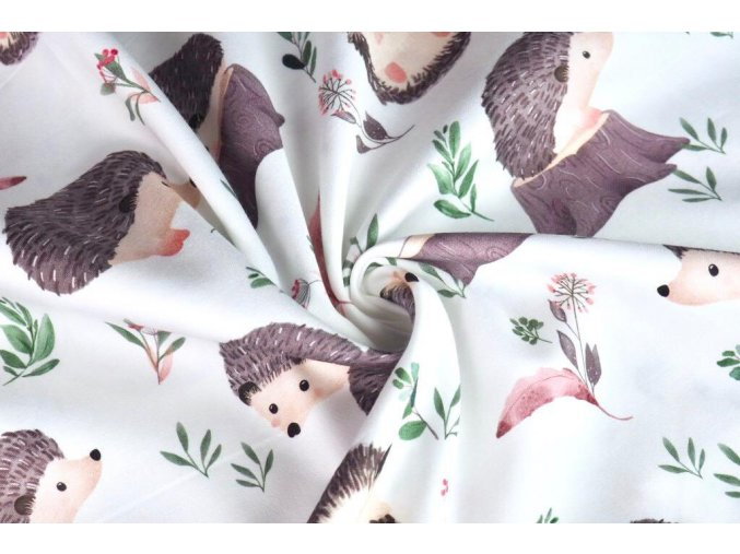 Bavlnený satén ježci