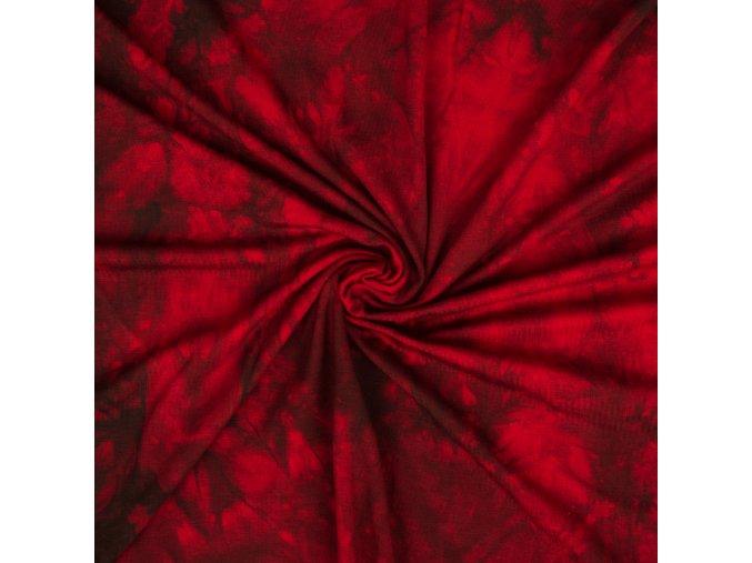 Bambusový úplet rubínová batika