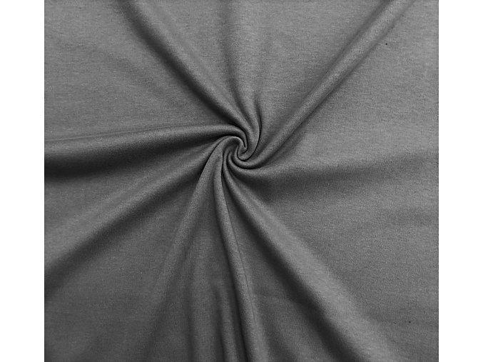 Obojstranný úplet stredne sivý