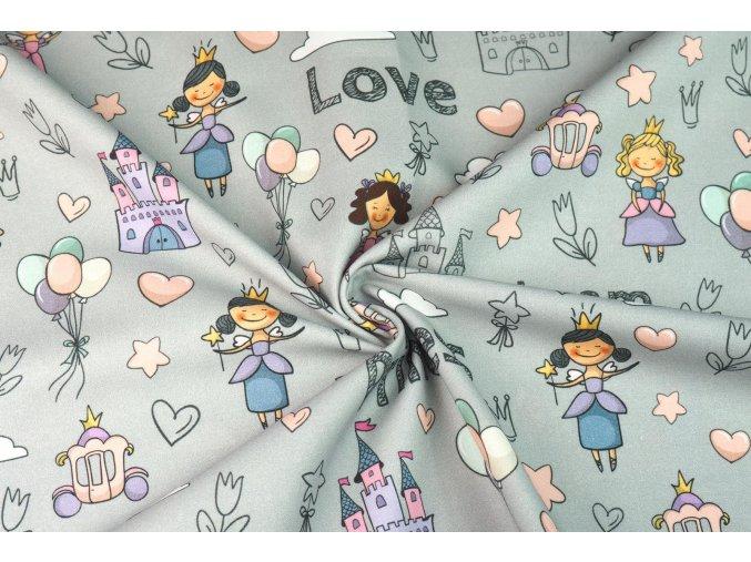 Bavlnené plátno princezničky