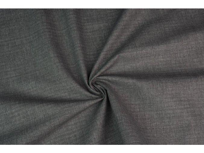 Bavlněné plátno temně šedé melé
