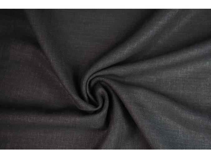 Lněná tkanina čierna1
