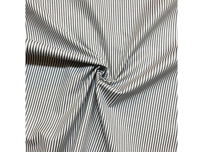 Bavlna prúžok sivo-biely