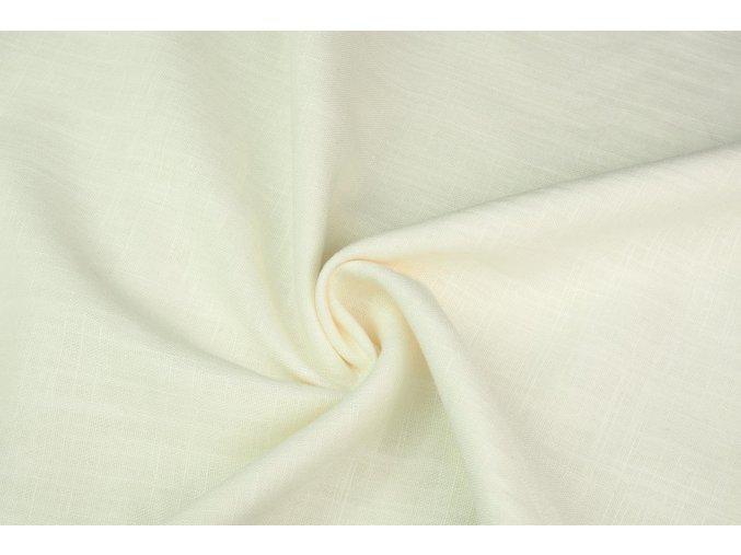 Ľanová tkanina ivory