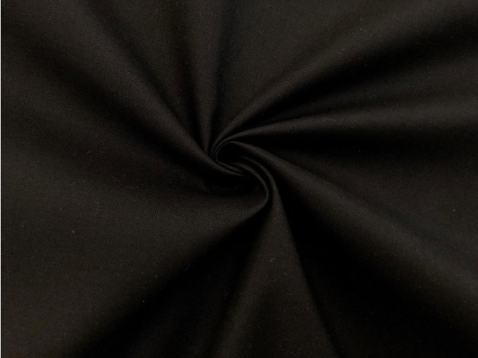 Bavlna s keprovou väzbou čierna