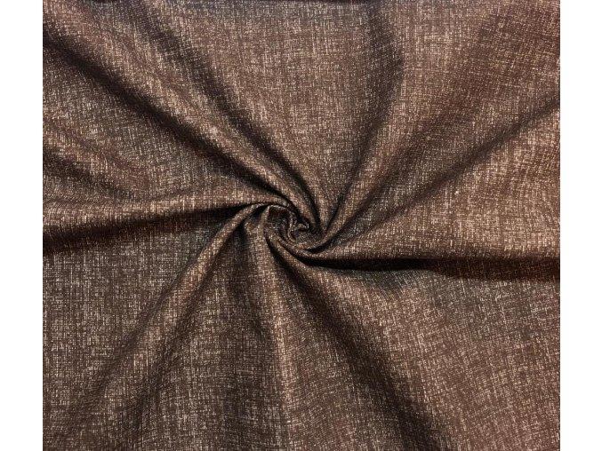 Bavlnené plátno tmavohnedý melír