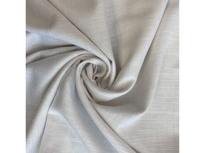 Ľanová tkanina biela