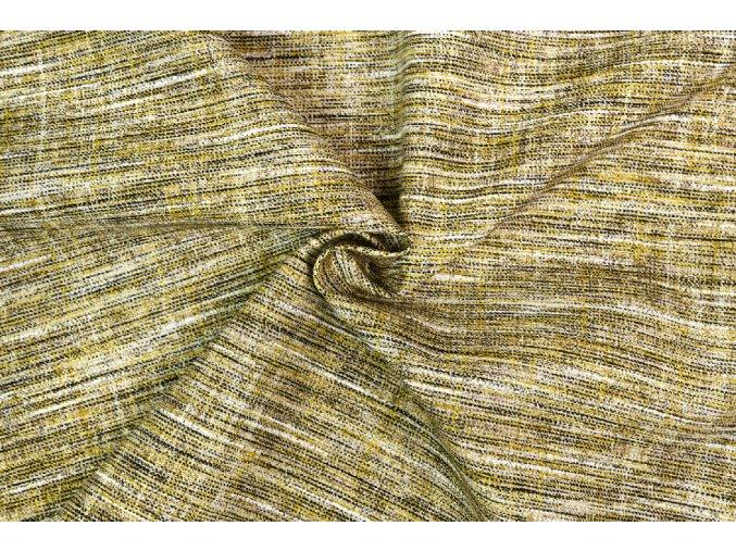 Bavlna režná žlto-čierny melír