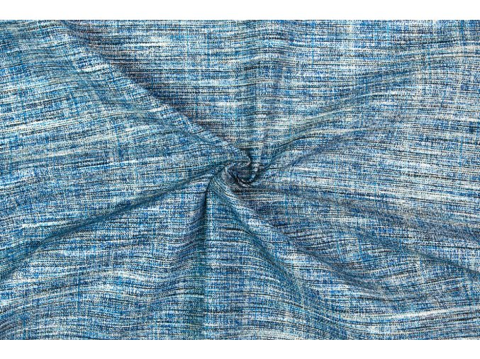 Bavlna režná modro-sivý melír