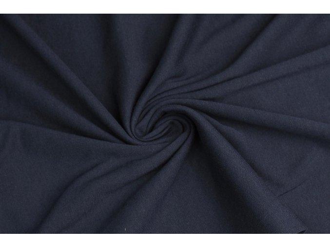 Bavlnený jednostranný úplet 100% bavlna námornícka modrá 130 g