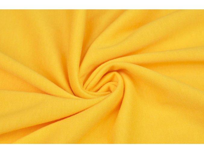 Bavlnený jednostranný úplet 100% bavlna žltý 160 g